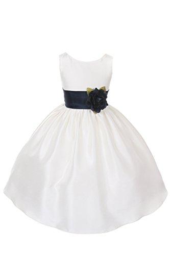 Ivory Silk Flower Girl Dress - 9