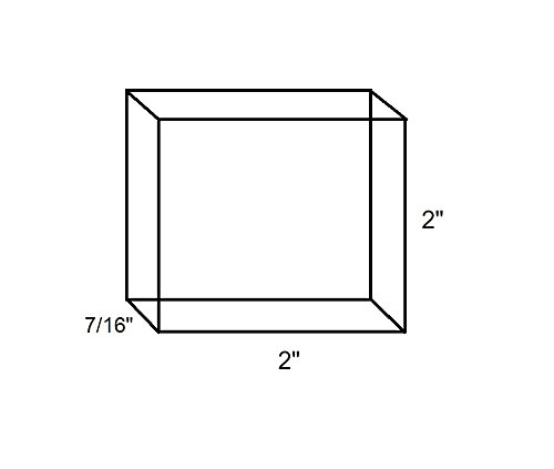"SE JT3422716SB 2"" x 2"" x 7/16"" Steel Bench Block"
