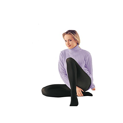Conte Womens Microfiber Black (Nero) Opaque Footed Tights - 80 Denier Pantyhose - Episode