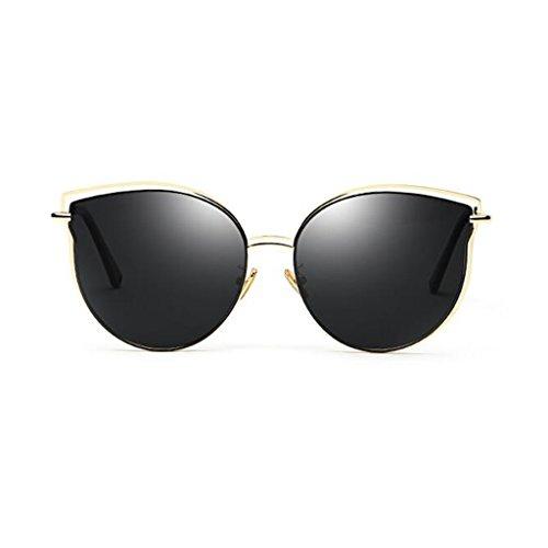 Ojo Anti Metal Beach Gato UV400 Light QZ Reflective Sol Gafas 1 Polarized Personalidad Travel Color de Espejo Beat HOME Street Decorativo 1 Vintage Ultralight de RxTYCq