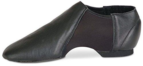 Danshuz Black or Tan Leather Ankle Bootie Adult Jazz Shoe Black 8YSIpqoBsc
