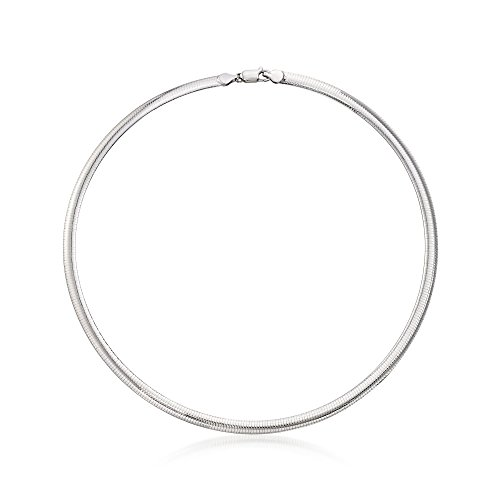 - Ross-Simons Italian 6mm Sterling Silver Omega Necklace