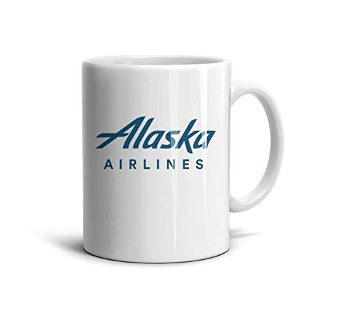 Ruslin Alaska Airlines Logo White Ceramic Mugs Coffee Mug Or Tea Mug
