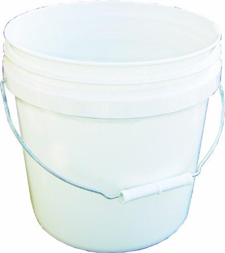 - Encore Plastics 20256 Industrial Plastic Pail White with Handle, 2-Gallon