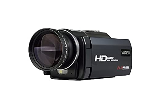 SEREE HDV-S5 Full HD 1080p 30fps Camcorder 24MP Resolution Macro Mode Support up to 64G SD Card External battery 3 Inch Touch Screen HDMI TV out Digital Video Camera (HDV-S5)