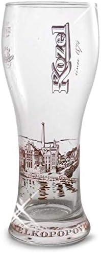 Vaso de pinta con certificado CE y nucleado. Kozel