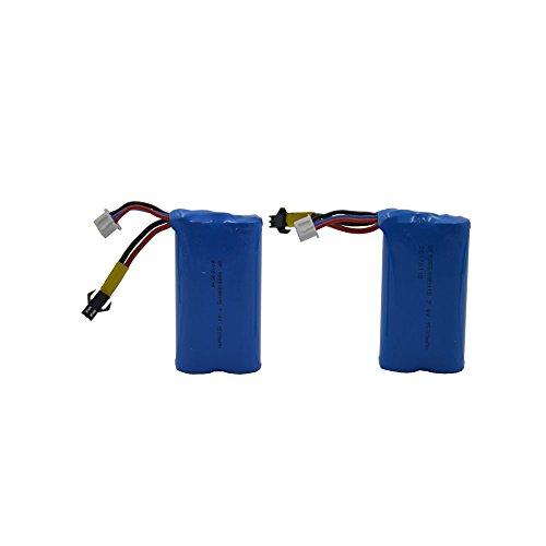 Blomiky 2pcs 7.4V 15C 1500mAH 18650 Lion Battery for TKKJ H101 H103 H105 SZJJX Blexy Red RC Boat Syma S033G H101 Battery 2 Pack