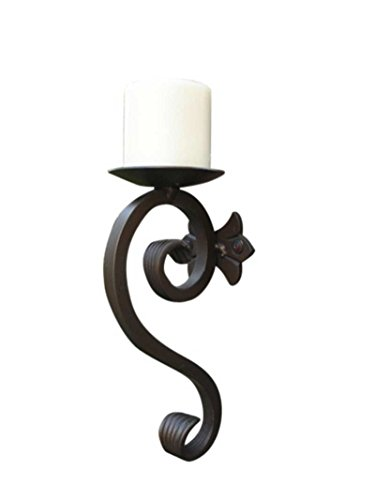 Shoreline Best Quality Decorative Iron Wall Mounted Candle Holder/Sconce-Black Matte (Holders Candle Wall Brass Mounted)