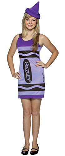 Purple Crayon Costume - Rasta Imposta Crayola Tank Dress Teen
