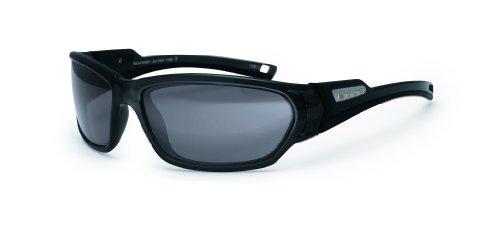 Bloc Scorpion Lunettes de soleil avec verres VE5 Noir Brillant