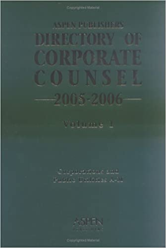Directory Of Corporate Counsel, 2005-2006