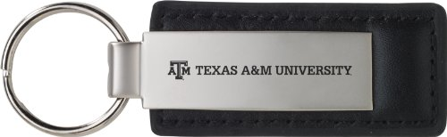 LXG, Inc. Texas A&M University - Leather and Metal Keychain - Black