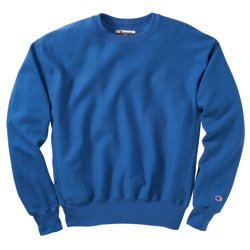 Champion Men's Men' Reverse Weave Fleece Crew, Navy, Medium