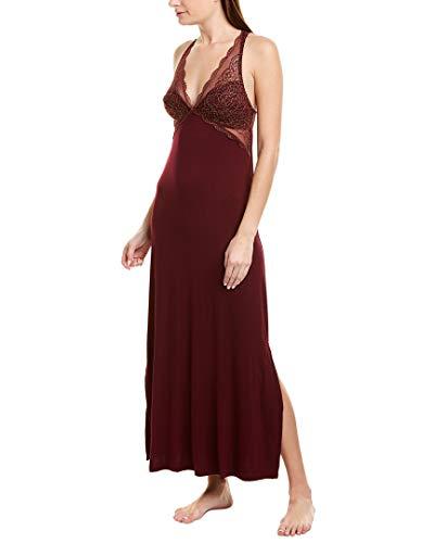 Fleur't Womens Modern Romance Nightgown, L/L, Red