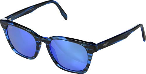 Maui Jim Shave Ice B533-86 | Polarized Electric Blue Classic Frame Sunglasses, Electic, 54