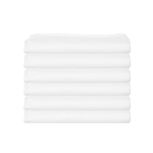 bkb Daycare 6 Piece Flat Crib and Toddler Sheets, (Child Care Crib)