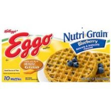 Eggo Nutri Grain Blueberry Waffles, 12.3 Ounce -- 8 per case.