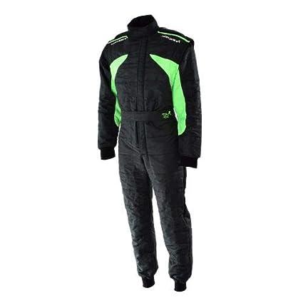 Traje K-Suit negro y verde neón: Amazon.es: Coche y moto