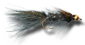 BH Woolly Bugger - Black Fly Fishing Fly - Size 12 - 3 Pack