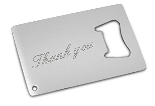 thank you bottle opener card