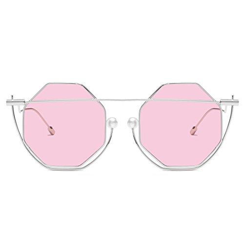 de Lens Pink pour Soleil Mirror Pink et Lunettes Lens Lunettes Gold Hommes Chameleon Color de UV400 Gold Lens Rose Soleil Frame Sakuldes Frame Femmes YnHFqwIBO