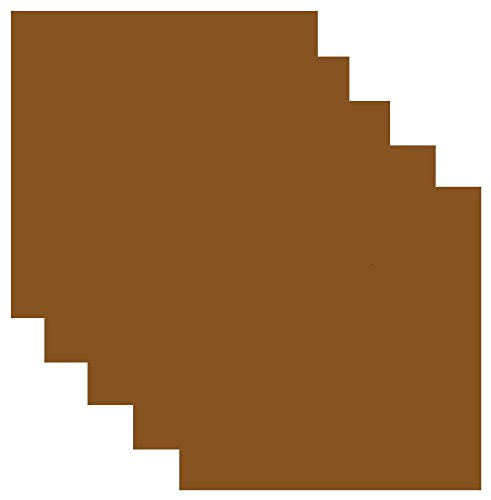 (Siser EasyWeed Heat Transfer Vinyl HTV for T-Shirts 12 x 12 Inches 5 Precut Sheets (Chocolate Brown))