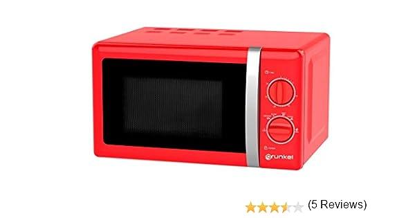 Grunkel - Microondas de diseño vintage rojo de 20 litros de ...