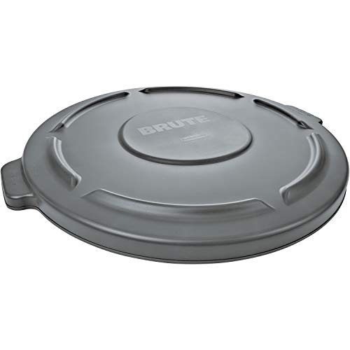Rubbermaid Commercial Products FG263100GRAY 32-Gallon Brute Flat Container Lid, 32 Gallon, Gray (Rubbermaid 32 Brute)
