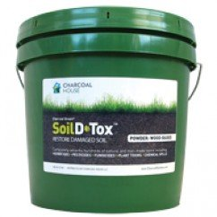 2gallon Pail Charcoal Green Soil D•Tox Wood Based Powder Agricultura, Organic Gardening, Naturally Remove Toxins, decontaminates soil , Easy to use, Safe & Effective by Charcoal Green®