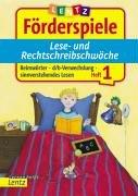 Förderspiele Lese- und Rechtschreibschwäche. Heft 1: Reimwörter, d/b Verwechslung, sinnverstehendes Lesen