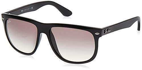 Ray-Ban RB4147 Boyfriend Square Sunglasses, Black/Grey Gradient, 56 mm