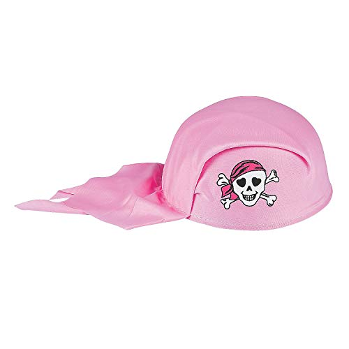 (Fun Express - Child's Pink Pirate Girl Scarf Hat (pc) for Birthday - Apparel Accessories - Hats - Novelty Piece Hats - Birthday - 1)
