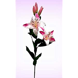 "Inna-Wholesale Art Crafts New 28"" Tiger Lily Spray Pink Silk Decorating Flowers Centerpieces Bridal Bouquets - Perfect for Any Wedding, Special Occasion or Home Office D?cor 10"