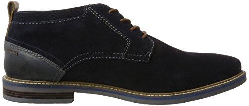 Bugatti 322165341400, Zapatos de Cordones Derby para Hombre Azul (Dark Blue)