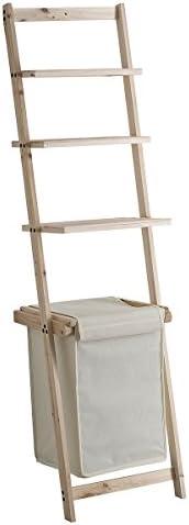 Mueble escalera con cesto para ropa beige: Amazon.es: Hogar