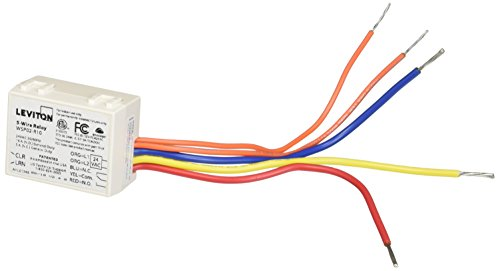 Leviton WSP02-R10 5-Wire Relay Receiver, White by Leviton