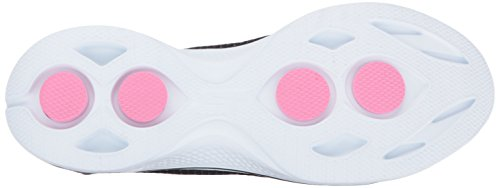 Skechers Go Walk 4-Kindle, Zapatillas para Mujer, Black / Heather/Pink Negro/Rosado
