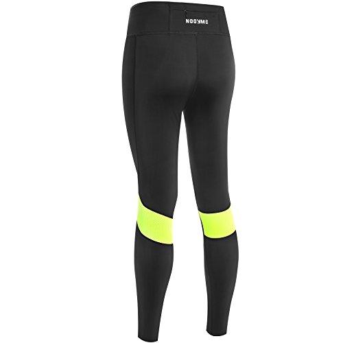 NOOYME Women's Compression Workout Leggings Pants (M, Fluorescent Green)