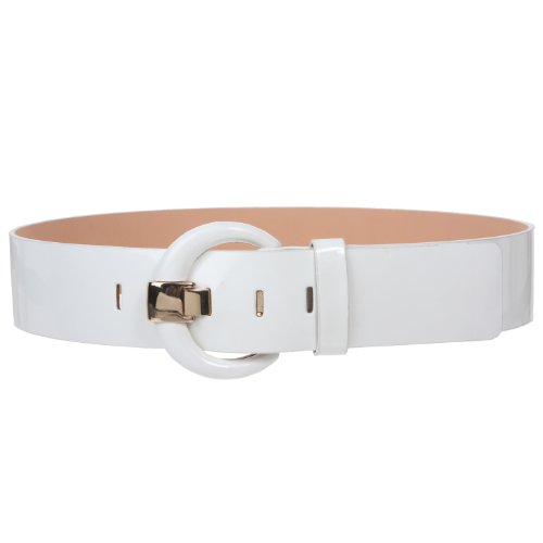Patent Leather Covered Buckle Belt (2
