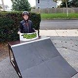 Ramptech 2' Tall x 4' Wide QUARTERPIPE Skateboard