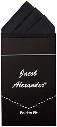 Jacob Alexander Men's Pre-Folded Triangles Pocket Square Handkerc