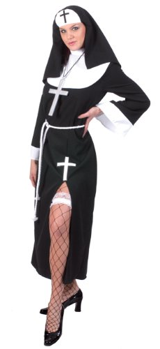 Adult Funny Nun Costumes (Mother Superior Adult Costume - Large)