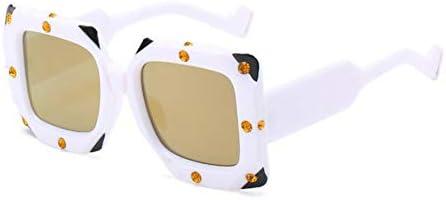 LIUYAWEI Cuadrado de la Vendimia Gafas de Sol de Cristal ...