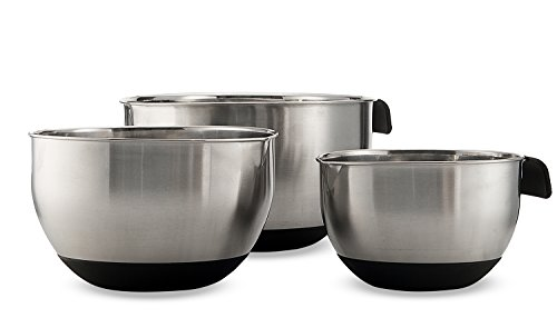 Show Sagler Set of 3 Stainless steel Mixing Bowls price