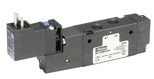 (Parker Hannifin B330E00XXC B3 Series Aluminum Pneumatic Solenoid 4-Way Air Control Valve, Remote Pilot Valve, Remote Pilot -M5 or Valve Less 15 mm Solenoid, 1/8