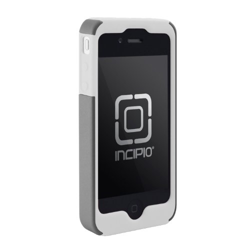 Incipio SILICRYLIC Case for iPhone 4 (White/Silver) (Fits AT&T iPhone)