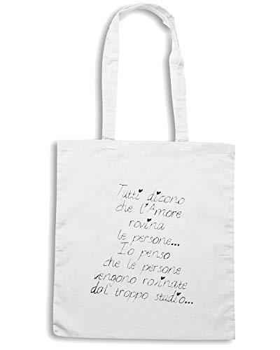 PERSONE Speed ROVINA AMORE TUTTI Shopper Shirt Bianca Borsa LE TDM00289 CHE L DICONO SSf7R6