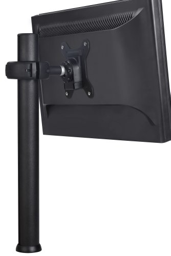 Atdec SD-DP-420 Spacedec Donut Pole Mount with Quick Release Mechanism and 75x75/100x100mm VESA Support, 16.5-Inch, Black