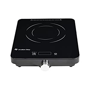 Avalon Bay Induction Cooktop, 1800W, Portable Induction Cooktop Countertop Burner, IC100B