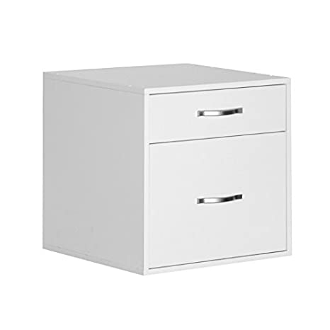 Jetmax Hanging Files Drawer Organizer Cube   White